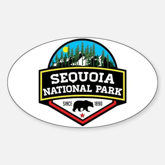 Cute Sequoia Sticker (Oval)