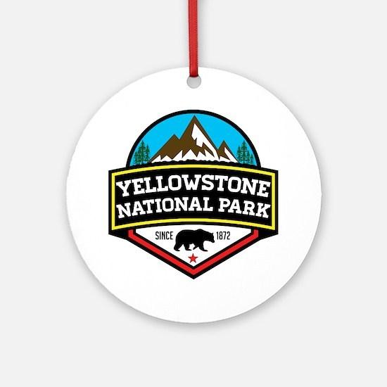 Unique Yellowstone Round Ornament