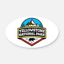 Cute Yellowstone national park aluminum Oval Car Magnet