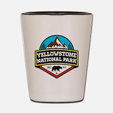 Funny Yellowstone bear Shot Glass