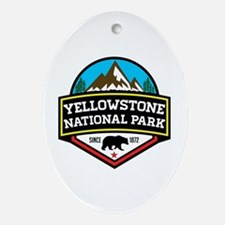 Cute Yellowstone national park Oval Ornament