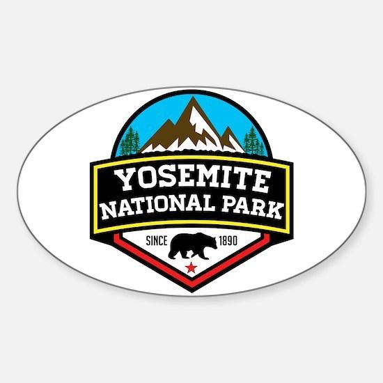 Cute Yosemite Sticker (Oval)