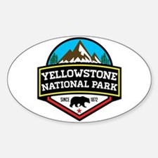 Cute Yellowstone national park Sticker (Oval)