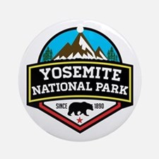 Cute Yosemite national park Round Ornament