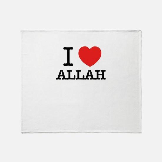 I Love ALLAH Throw Blanket