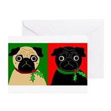 Holly - Black & Fawn Greeting Cards (Pk of 20)