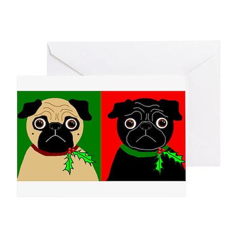 Holly - Black & Fawn Greeting Card
