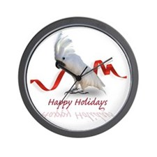 cockatoo holiday Wall Clock