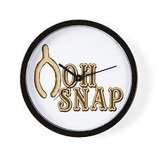 Oh Snap Wishbone Thankgiving Luck Wall Clock