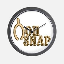 Oh Snap Wishbone Thankgiving Luck Wall Clock