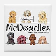 Goldendoodle McDoodles Tile Coaster
