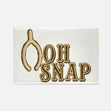 Oh Snap Wishbone Thankgiving Luck Rectangle Magnet