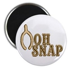 "Oh Snap Wishbone Thankgiving Luck 2.25"" Magnet (10"