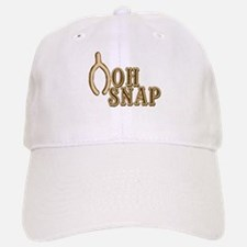Oh Snap Wishbone Thankgiving Luck Baseball Baseball Cap