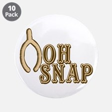 """Oh Snap Wishbone Thankgiving Luck 3.5"""" Button (10"""