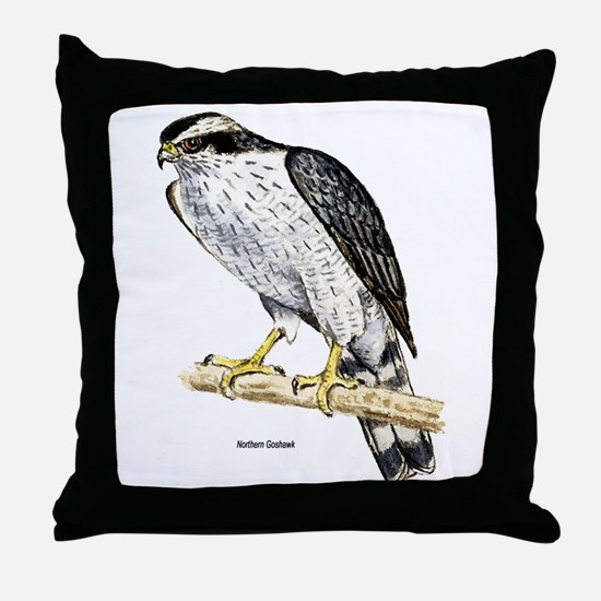 Northern Goshawk Hawk Throw Pillow