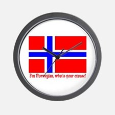 I'M NORWEGIAN, WHAT'S YOUR EXCUSE? Wall Clock