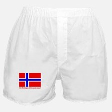 I'M NORWEGIAN, WHAT'S YOUR EXCUSE? Boxer Shorts