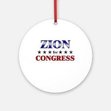 ZION for congress Ornament (Round)
