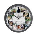Wild Cats Wall Clock