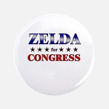 """ZELDA for congress 3.5"""" Button"""