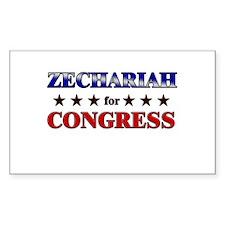 ZECHARIAH for congress Rectangle Decal