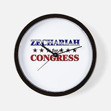 ZECHARIAH for congress Wall Clock