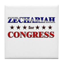 ZECHARIAH for congress Tile Coaster