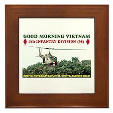 5th INFANTRY DIV VIETNAM Framed Tile
