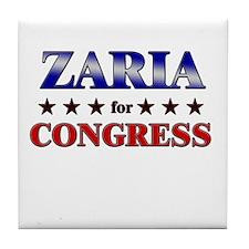 ZARIA for congress Tile Coaster