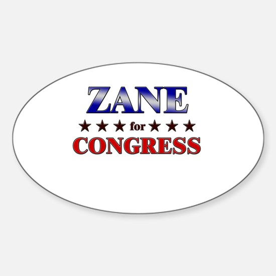 ZANE for congress Oval Decal