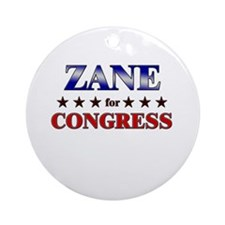 ZANE for congress Ornament (Round)