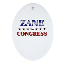 ZANE for congress Oval Ornament