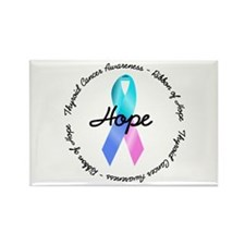 Hope-Thyroid Cancer Rectangle Magnet