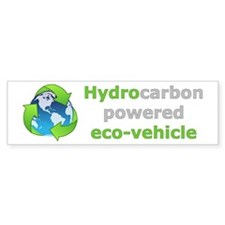 Hydrocarbon Powered Bumper Bumper Sticker