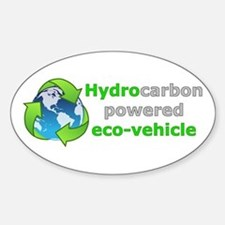 Hydrocarbon Powered Oval Decal