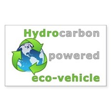 Hydrocarbon Powered Rectangle Decal