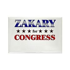 ZAKARY for congress Rectangle Magnet