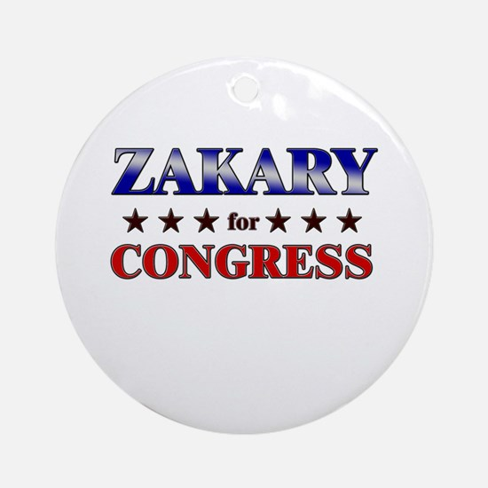 ZAKARY for congress Ornament (Round)
