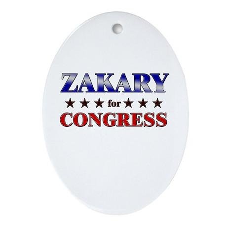 ZAKARY for congress Oval Ornament