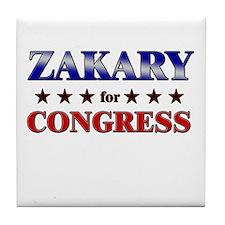 ZAKARY for congress Tile Coaster