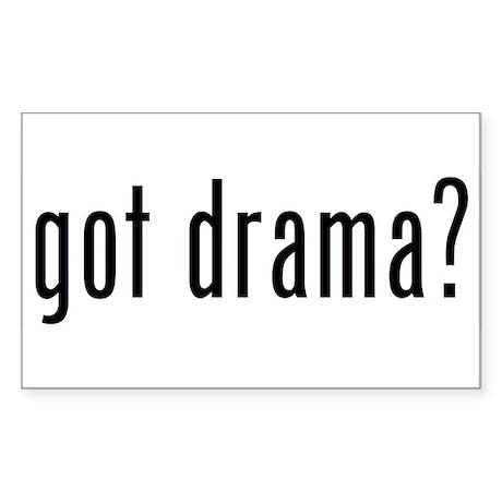 got drama? Rectangle Sticker