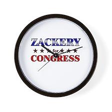 ZACKERY for congress Wall Clock