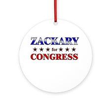ZACKARY for congress Ornament (Round)