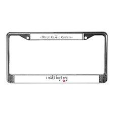 I Make Boys Cry License Plate Frame