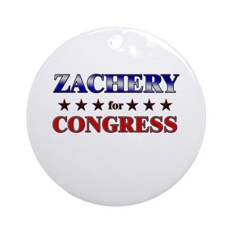ZACHERY for congress Ornament (Round)