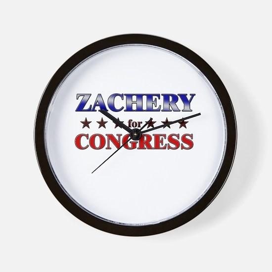 ZACHERY for congress Wall Clock