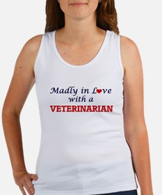 Madly in love with a Veterinarian Tank Top