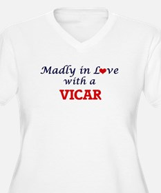 Madly in love with a Vicar Plus Size T-Shirt