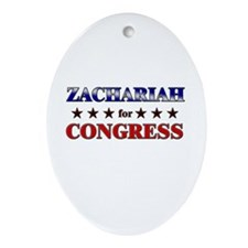 ZACHARIAH for congress Oval Ornament